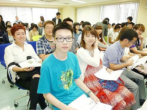 2015 여름학기 동경갤럭시일본어학교 입학식  학생들