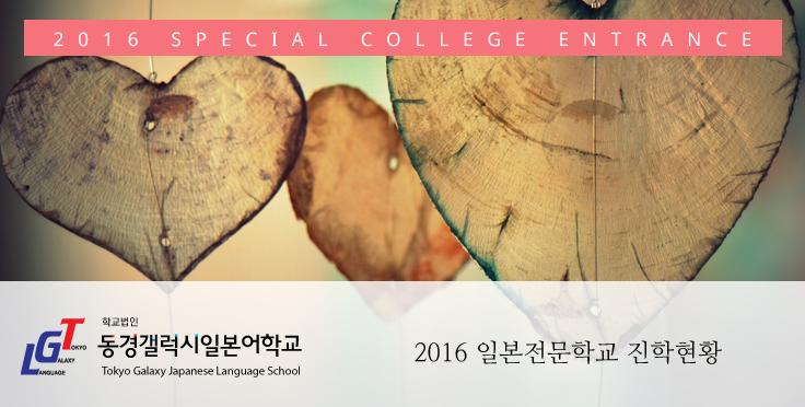 일본유학 2016 일본전문학교 진학 현황